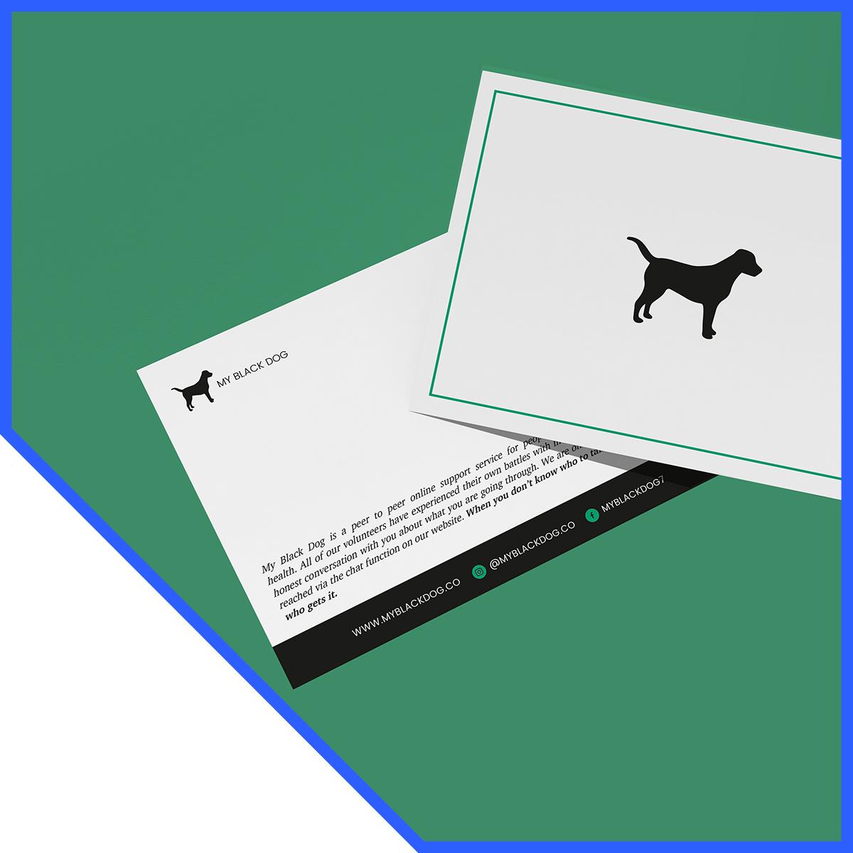 Digital and Print Marketing - Case Study - My Black Dog