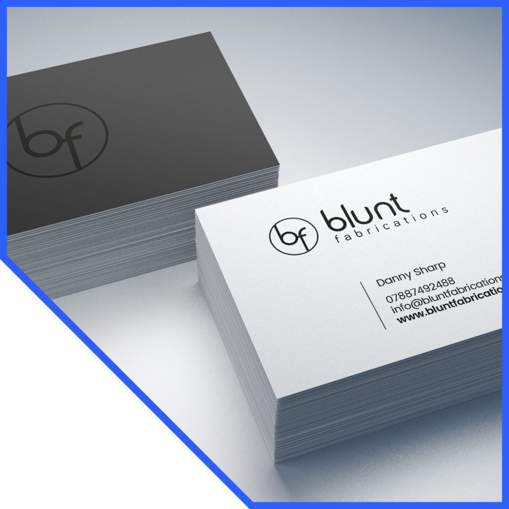 Print business cards - Blunt