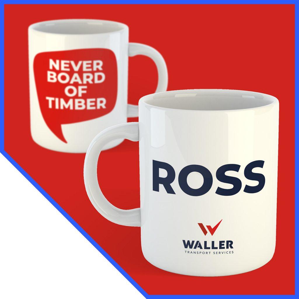 Print design services - Waller coffee mugs