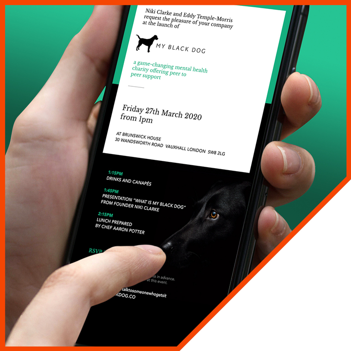 online digital marketing - My Black Dog website